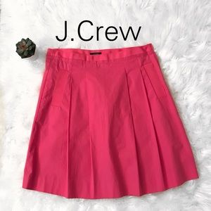 J.Crew Pink Pleated Skirt with Pockets-2 EUC